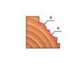 38-FR Pro felsőmaró profil D:32,7x14,5; H:56,7; A:8;C:12,7;R:3; Z:2