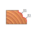38-FR Pro felsőmaró profil D:32,7x15; H:57,2; A:6;C:12,7;R:5; Z:2