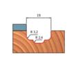 39-FR Pro felsőmaró profil D:19x9,5; H:53; A:6;C:19