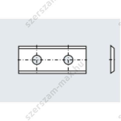 TR váltólapka bútorlap, MDF 30x12x1,5 z:2