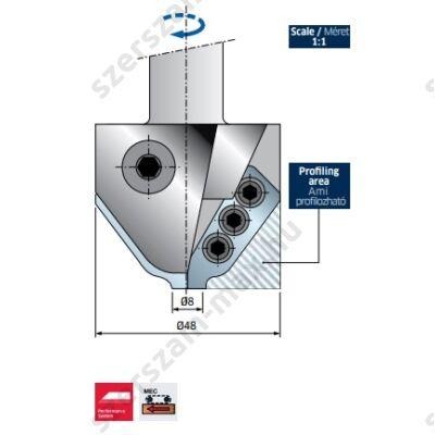 PCN121-Freud profilkéses CNC felsőmaró D:65; B:45; A:20x50; Z:2